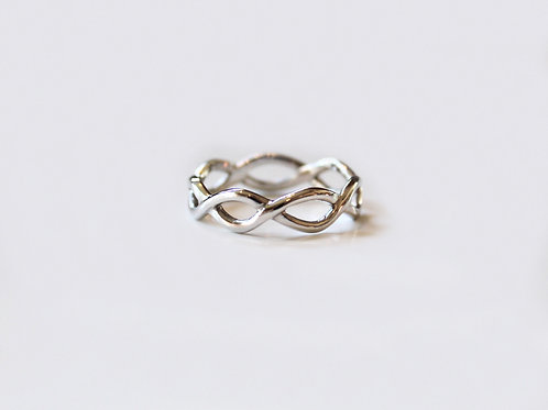 Silver Celtic Infinity Knot Ring