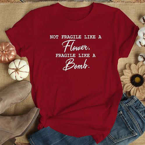Fragile Like Bomb Premium Tshirt (Unisex Fit)