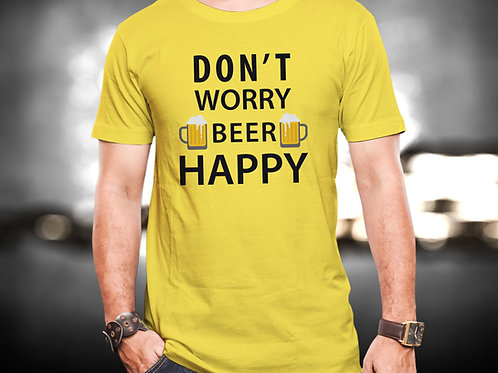 Dont Worry Beer Happy Unisex Tshirt