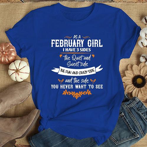 February Girl Women Premium Tshirt (Unisex Fit)