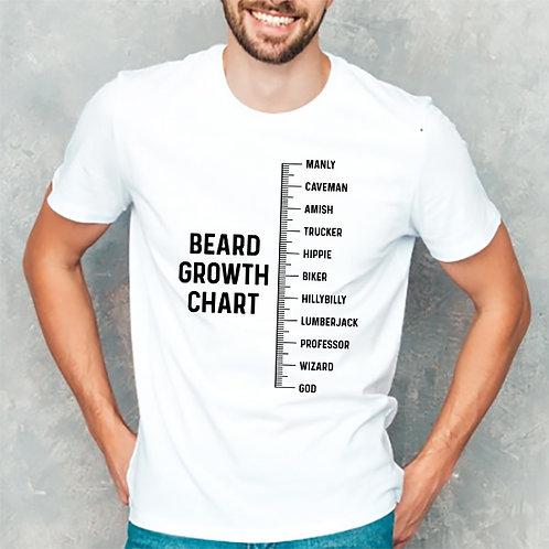 Beard Growth Chart Tshirt