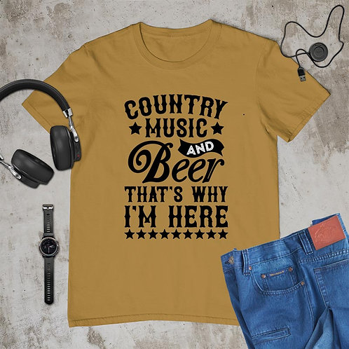 Country Music and Beer Tshirt