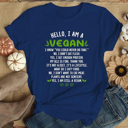 I Am Vegan Women Premium Tshirt (Unisex Fit)