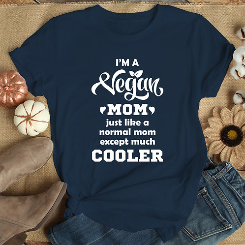 I Am Vegan Mom Women Premium Tshirt (Unisex Fit)