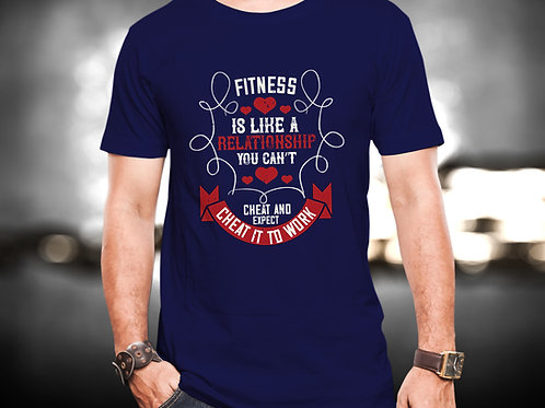Fitness Is Like Relationship Fitness Unisex Tshirt