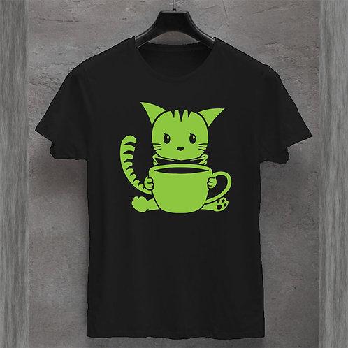 Cat Coffee Tshirt