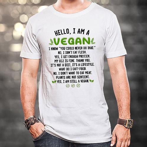 I Am A Vegan Unisex Tshirt