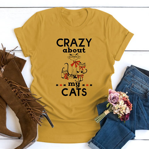 Crazy about Cats tshirt