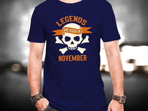 Legends Are Born In November Unisex Tshirt