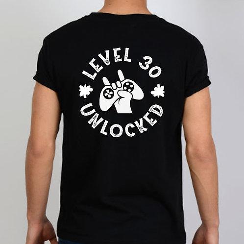 Level 30 Unlocked Back Print Tshirt