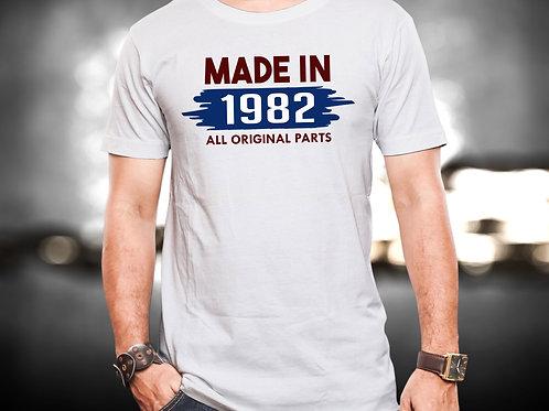 Made in 1982 Unisex Tshirt