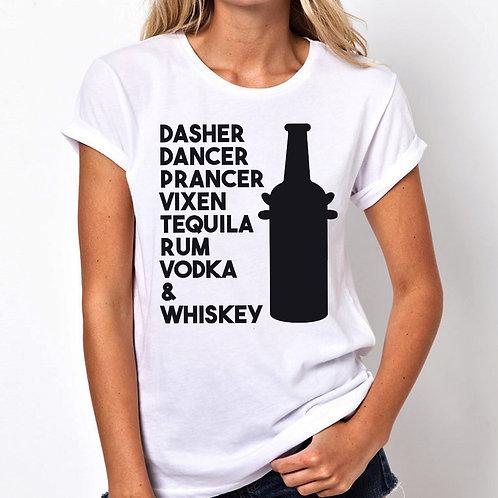 Dasher Dancer Women Tshirt (Unisex Fit)