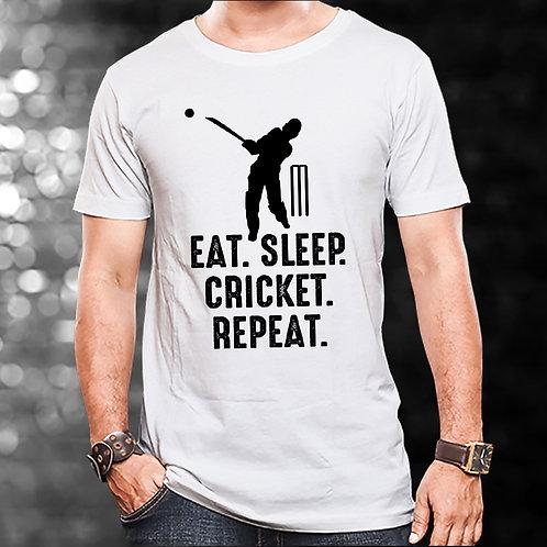 Eat Sleep Cricket Repeat Unisex Tshirt