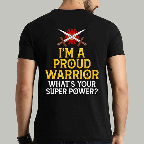 Proud Warrior Back Print Tshirt