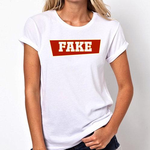 Fake Women Tshirt (Unisex Fit)