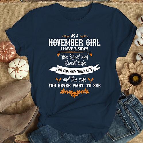 November Girl Tshirt