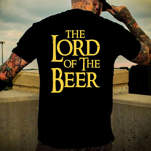 Lord Of The Beer Back Print Tshirt