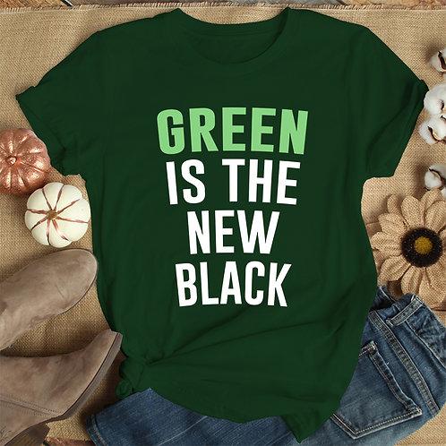 Green Is The New Black Women Premium Tshirt (Unisex Fit)