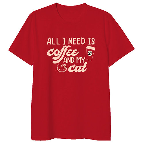 Coffee and Cat Tshirt