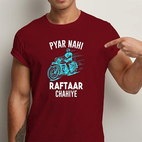 Pyar Nahi Raftaar Men Premium Tshirt