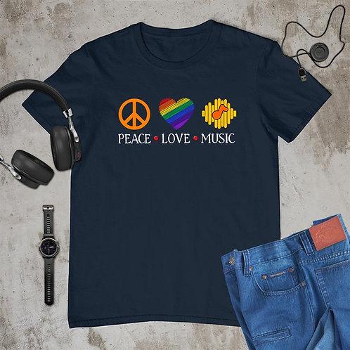 Peace Love Music Tshirt