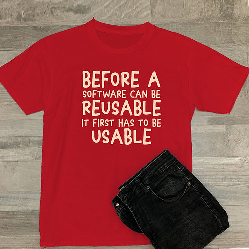 Reusable Software Tshirt
