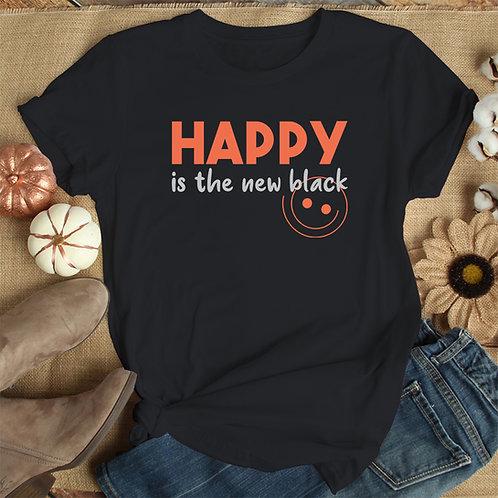 Happy Is The New Black Women Premium Tshirt (Unisex Fit)