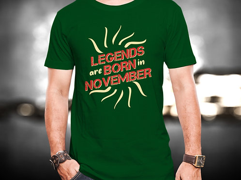 Legends Born In November Unisex Tshirt