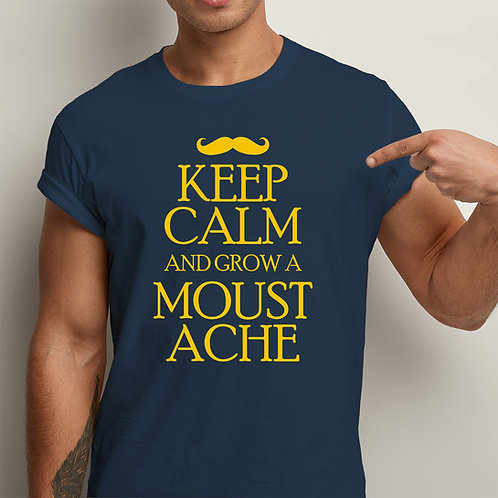 Keep Calm Grow Moustache Men Premium Tshirt