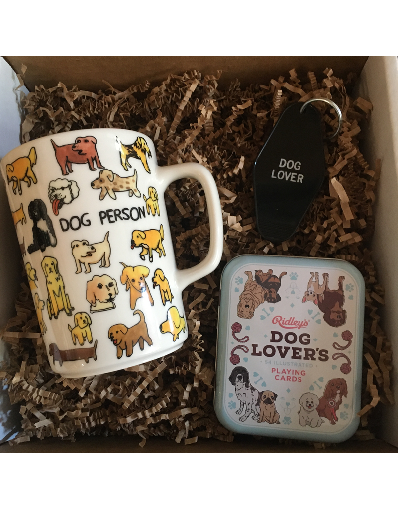 dog lovers, gift box, dog coffee mug, dog playing cards