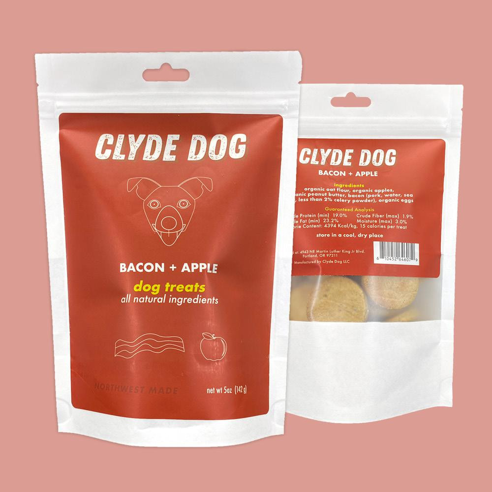 Clyde Dog, Bacon and Apple Dog Treats, All natural,