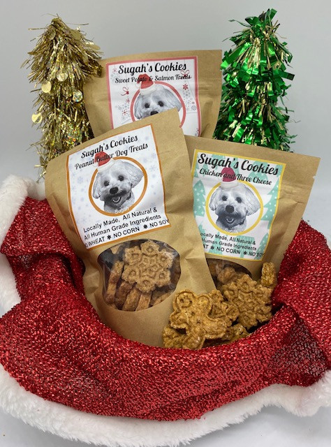 sugah's cookies and cakes, dog treats, dog snacks, treats, dog food