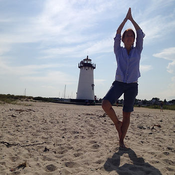 Lighthouse and Yoga