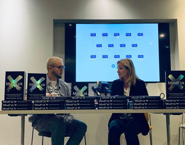"""Whistleblower Christopher Wylie presents his new book """"Mindf*ck"""" at the FPA"""