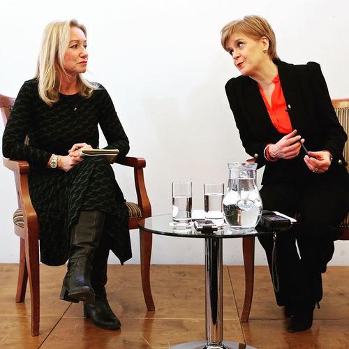 Nicola Sturgeon with Deborah Bonetti
