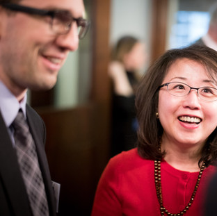 Alexander Smotrov (Global Council) and Jennifer Huang (The Reporter News, HK)