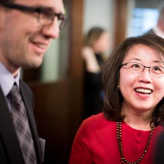 Alexander Smotrov (Global Council) and Jennifer Huang (The Reporter News, HK)