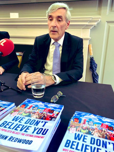 """John Redwood's book """"We don't believe you"""""""