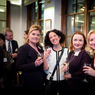 Benedicte Paviot (France 24), Liliana Faccioli PIntozzi (Sky TG 24, Italy), Jana Cechlovska (Czech Embassy) and Deborah Bonetti (Il Giorno)