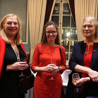 Katie Cross, Laura Overall (CNH Industrial) and Laura Dugdale (FPA Media Awards, High Spirits)