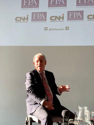 John Bercow at the FPA