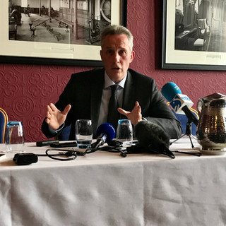 Ian Paisley Jr. briefs members of the FPA