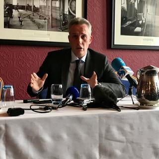 Ian Paisley Jr. briefs members of the FPA
