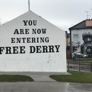 Free Derry and murals
