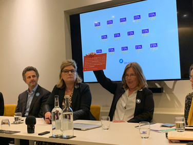 Broken Promises, Maike Bohn holds up the UK government's promise to UK citizens the day after the referendum