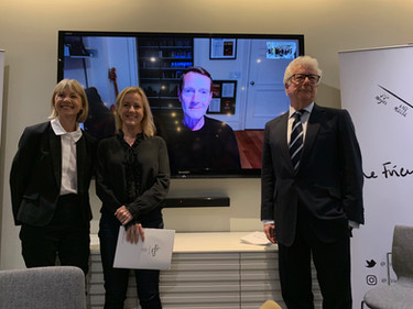 Kate Mosee, Jojo Moyes, Lee Child (via Skype) and Ken Follett at the FPA