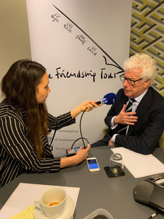 Ken Follett interviewed by Anais Cordoba of French Radio