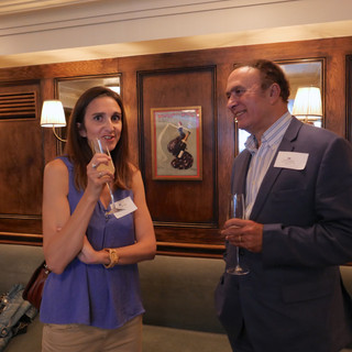 Chloe Goudenhooft of L'Opinion with Ali Bahaijoub of North South Publications