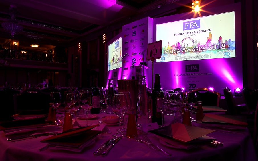 Gala evening for the FPA Media Awards