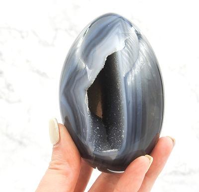 Agate Druzy Egg SML